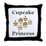 Cupcake Princess Throw Pillow