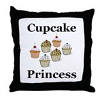 Cupcake Princess Throw Pillow