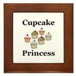 Cupcake Princess Framed Tile