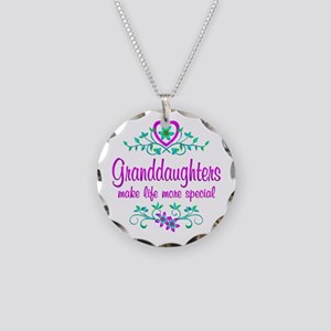 Special Granddaughter Necklace Circle Charm