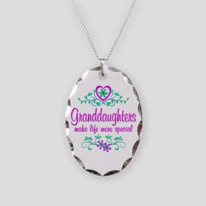 Special Granddaughter Necklace Oval Charm