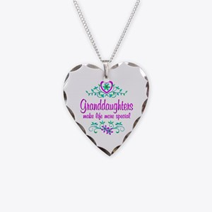 Special Granddaughter Necklace Heart Charm