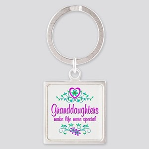 Special Granddaughter Square Keychain