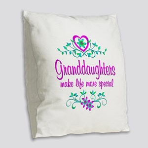 Special Granddaughter Burlap Throw Pillow
