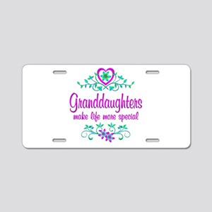 Special Granddaughter Aluminum License Plate