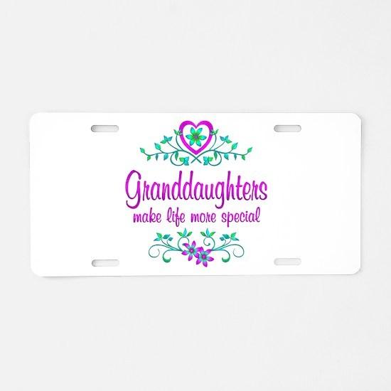 Special Granddaughter Aluminum License Plate