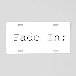 fade in Aluminum License Plate