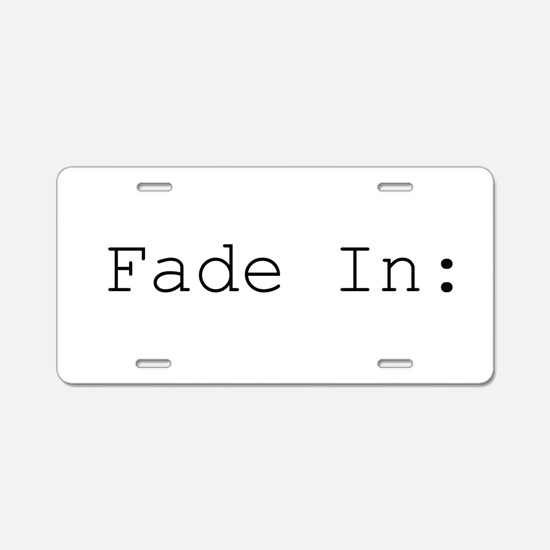 fade in.png Aluminum License Plate