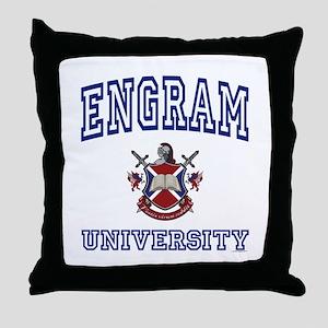 ENGRAM University Throw Pillow