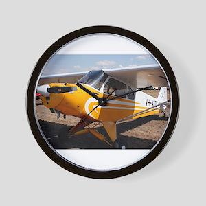 Piper Cub Aircraft (yellow & white) Wall Clock