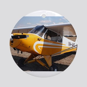 Piper Cub Aircraft (yellow & whit Ornament (Round)