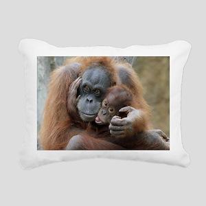 OrangUtan001 Rectangular Canvas Pillow