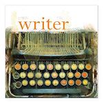 typewriterwriter Square Car Magnet 3