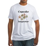 Cupcake Inspector Fitted T-Shirt