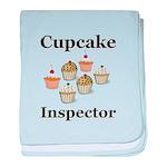 Cupcake Inspector baby blanket