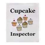 Cupcake Inspector Throw Blanket
