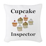 Cupcake Inspector Woven Throw Pillow