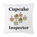 Cupcake Inspector Woven Throw Pillow