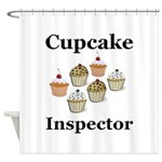 Cupcake Inspector Shower Curtain
