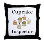 Cupcake Inspector Throw Pillow