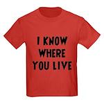 KnowWhereYouLive Kids Dark T-Shirt