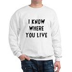 KnowWhereYouLive Sweatshirt