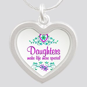Special Daughter Silver Heart Necklace