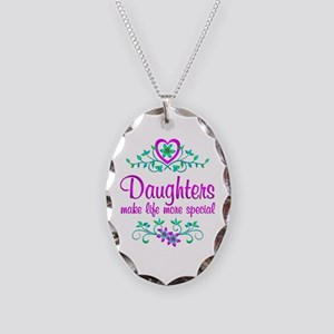 Special Daughter Necklace Oval Charm