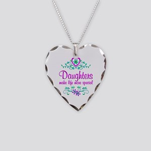 Special Daughter Necklace Heart Charm