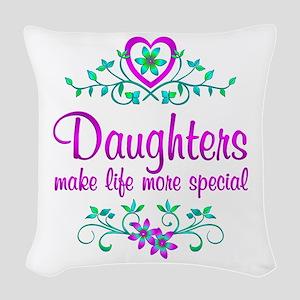 Special Daughter Woven Throw Pillow