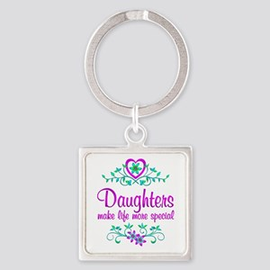 Special Daughter Square Keychain