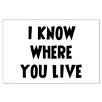 KnowWhereYouLive Large Poster