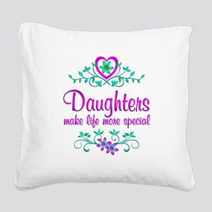 Special Daughter Square Canvas Pillow