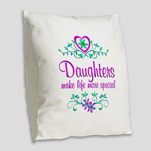 Special Daughter Burlap Throw Pillow