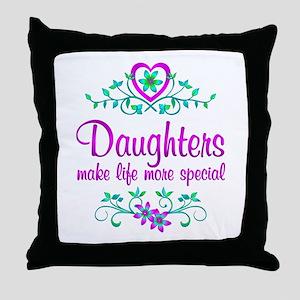 Special Daughter Throw Pillow