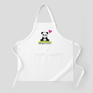 Panda's hands showing love Apron