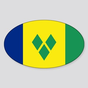 St Vincent & The Grenadines Nal fla Sticker (Oval)