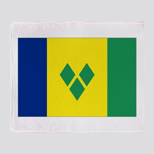 St Vincent & The Grenadines Nal Flag Throw Bla