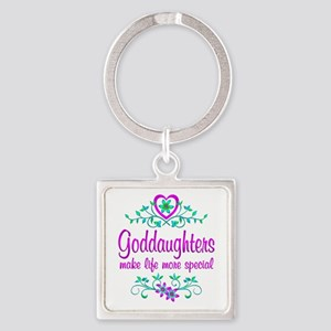 Special Goddaughter Square Keychain