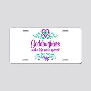Special Goddaughter Aluminum License Plate
