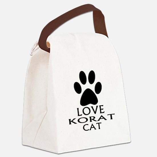 Love Korat Cat Designs Canvas Lunch Bag