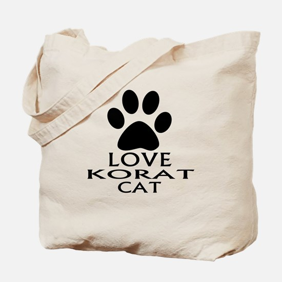 Love Korat Cat Designs Tote Bag