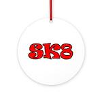 Skater SK8 Ornament (Round)