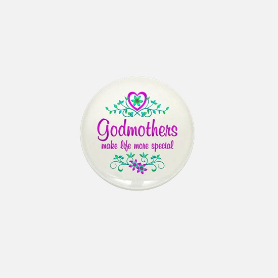 Special Godmother Mini Button