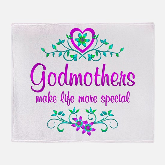 Special Godmother Throw Blanket