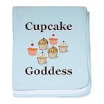 Cupcake Goddess baby blanket
