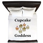Cupcake Goddess King Duvet