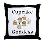 Cupcake Goddess Throw Pillow