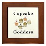 Cupcake Goddess Framed Tile