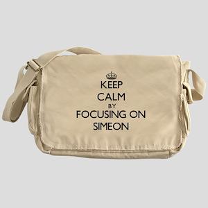 Keep Calm by focusing on on Simeon Messenger Bag